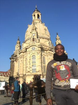 """Erfahrungen eines Studenten aus Kamerun bei der Ausstellung """"Die Wölfe sind zurück?"""" in Dresden - Interview mit Tchio Judicael, Elektrotechnik-Student an der TU Dresden"""